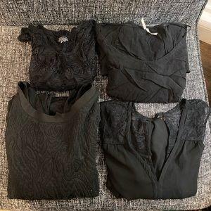 Black blouse bundle-Banana Republic